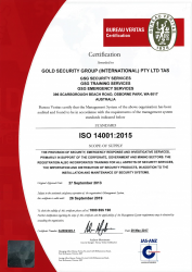 Gold Security Group INT Pty Ltd; Bureau Veritas Standard ISO 14001:2015.png