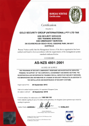 Gold Security Group INT Pty Ltd; Bureau Veritas Standard AS-NZS 4801:2001.png